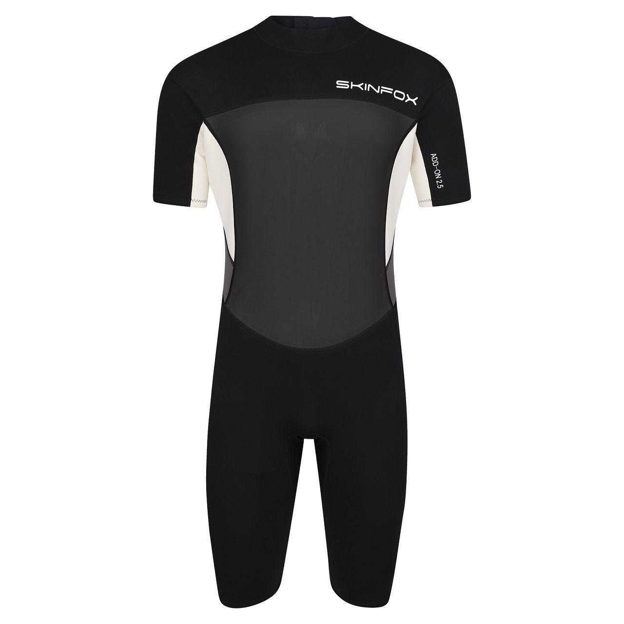 Skinfox Leader FF men gray-white shorty wetsuit