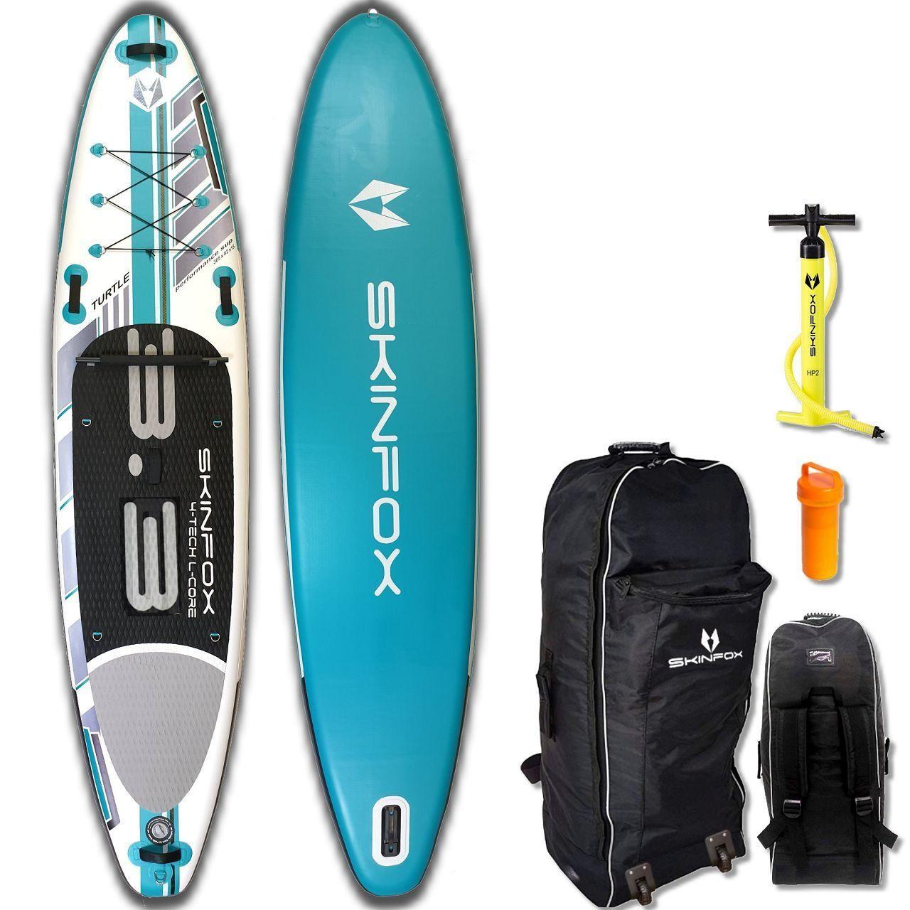 SKINFOX SEAHORSE ALU-SET (335x78x15) 4-TECH L-CORE SUP Paddelboard tuerkis